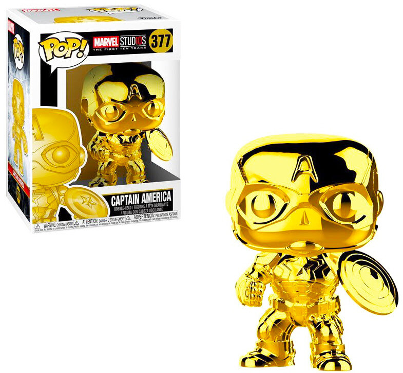 Captain America (Gold Chrome) Marvel Studios the First Ten Years Marvel Funko Pop 377