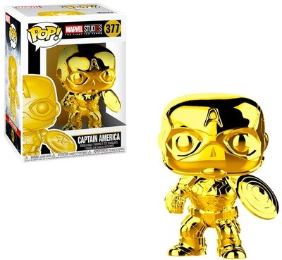 Captain America (Gold Chrome) Marvel Studios the First Ten Years Marvel Funko Pop 377