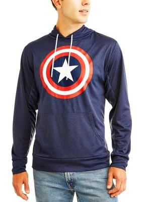 Captain America Marvel Long Sleeve Pullover Hooded Shirt