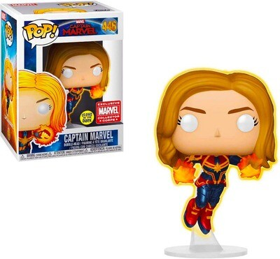 Captain Marvel Flying (Glow in the Dark) Marvel Captain Marvel Funko Pop 446 Collector Corps Exclusive