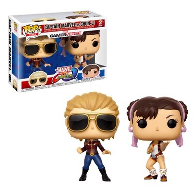 Captain Marvel vs. Chun-Li Marvel vs Capcom: Infinite Funko Pop Games Gamerverse 2-Pack