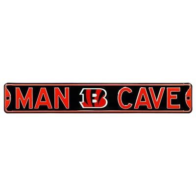 Cincinnati Bengals NFL Man Cave Steel Street Sign