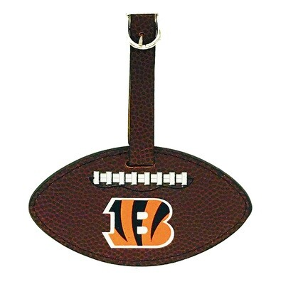 Cincinnati Bengals B Logo NFL Leather Football Luggage Tag
