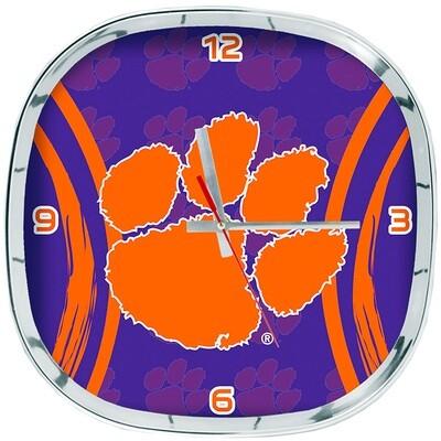 Clemson Tigers NCAA Logo Shadow Wall Clock