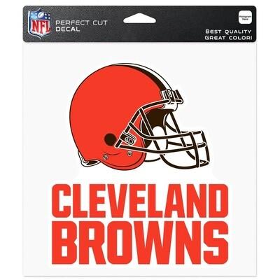 Cleveland Browns Helmet Primary Logo NFL 8x8