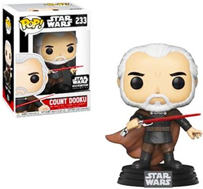 Count Dooku Star Wars Funko Pop 233 Smuggler's Bounty Exclusive
