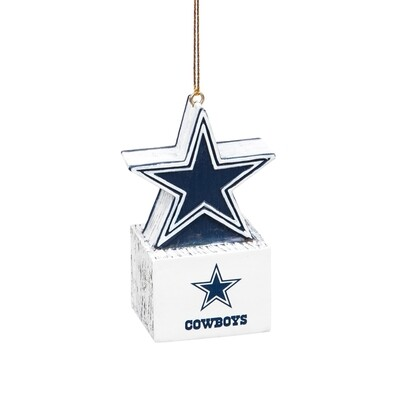 Dallas Cowboys Star Logo NFL Christmas Tree Holiday Ornament