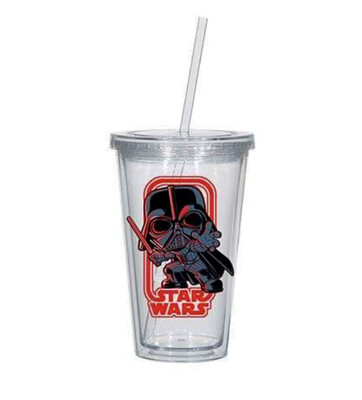 Darth Vader Star Wars Funko 16 oz. Acrylic Cup with Lid & Straw Smuggler's Bounty Exclusive