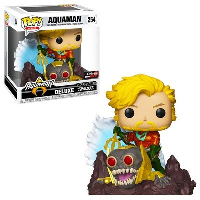 Aquaman Jim Lee DC Collection Funko Pop Heroes Deluxe 254 Gamestop Exclusive