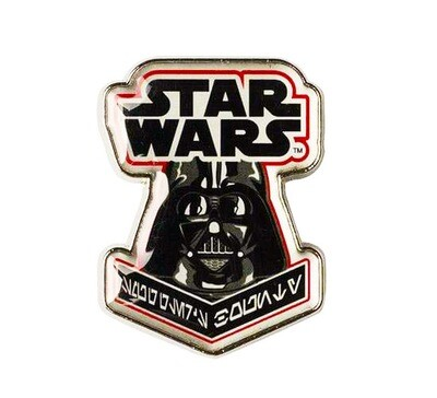 Darth Vader Star Wars Aurebesh Writing Enamel Pin Smuggler's Bounty Exclusive