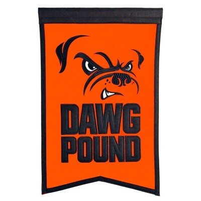 Dawg Pound Cleveland Browns NFL Traditions Slogan Felt Wall Banner