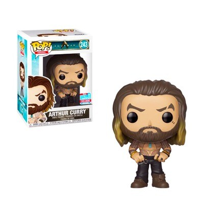 Arthur Curry (Shirtless) Aquaman DC Funko Pop Heroes 243 Fall Convention Exclusive Limited Edition