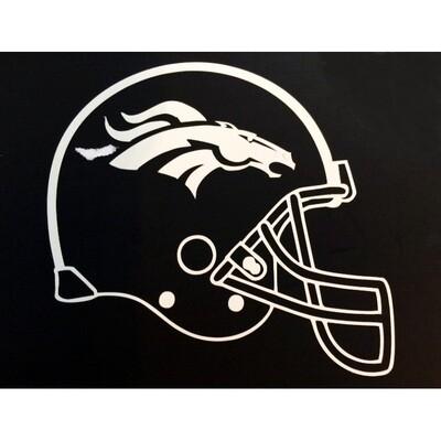 Denver Broncos White Helmet NFL 4x4