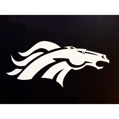 Denver Broncos White Logo NFL 4x6