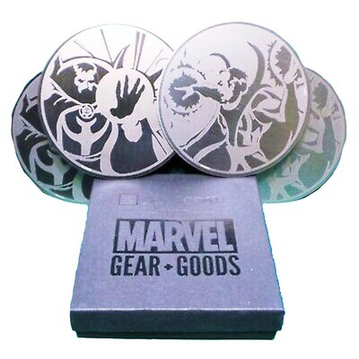 Dr Strange (vs. Baron Mordo) Marvel Stainless Steel Coaster Set of 4