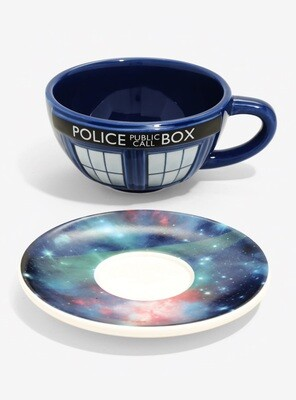 Doctor Who BBC Galaxy 2-piece Ceramic Teacup and Saucer Set