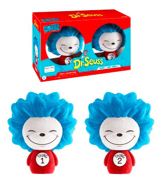 Thing 1 and Thing 2 (Flocked) Dr. Seuss Funko Dorbz Barnes & Noble Exclusive