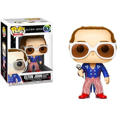 Elton John (Patriotic) Red, White, and Blue Funko Pop Rocks 63