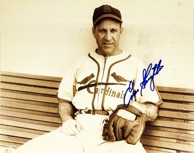 Enos Slaughter St. Louis Cardinals MLB Autographed 8x10 Photo (w/ Certificate of Authenticity)