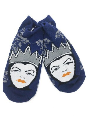 Evil Queen Floral Snow White Disney No-Show Ankle Socks