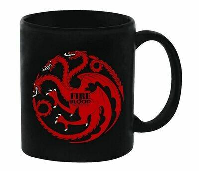 Fire and Blood Targaryen Dragon Sigil Game of Thrones Ceramic Mug