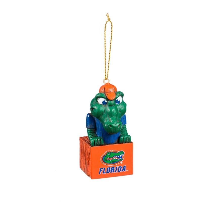 Florida Gators Mascot NCAA Christmas Tree Holiday Ornament