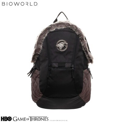 Stark Direwolf Game of Thrones Fur Trim Backpack