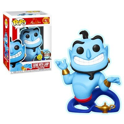 Genie with Lamp (Glow in the Dark) Aladdin Disney Funko Pop 476 Specialty Series Limited Edition Exclusive