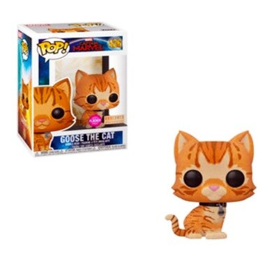 Goose the Cat (Flocked) Marvel Captain Marvel Funko Pop 426 BoxLunch Exclusive