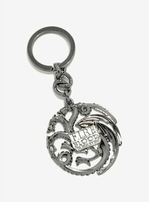 Targaryen Fire and Blood Dragon Sigil Game of Thrones The Noble Collection Metal Keychain