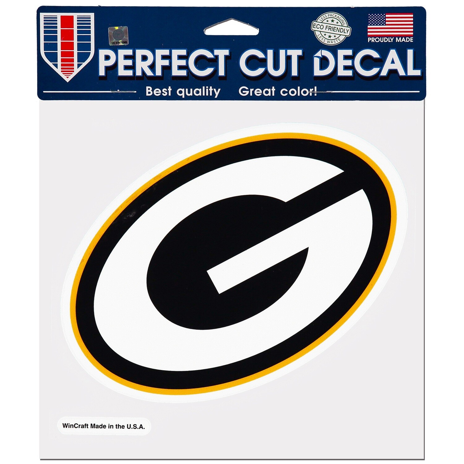 """Green Bay Packers G Primary Logo NFL 8x8"""" Perfect Cut Decal Sticker"""