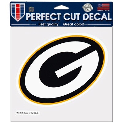 Green Bay Packers G Primary Logo NFL 8x8