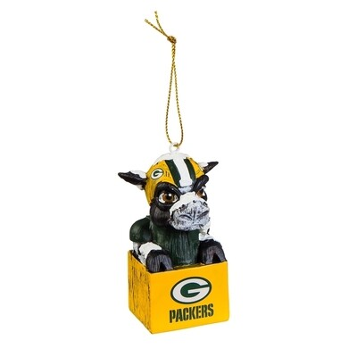 Green Bay Packers Mascot NFL Christmas Tree Holiday Ornament