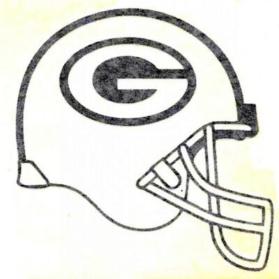 "Green Bay Packers Black Helmet NFL 4x4"" Laser Cut Decal Sticker"