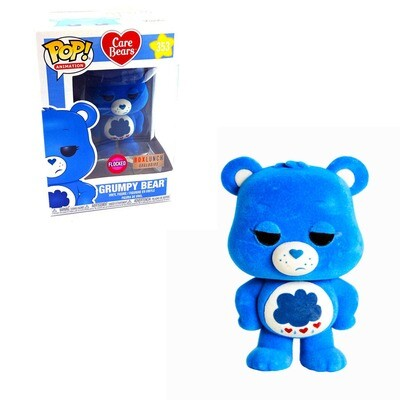 Grumpy Bear (Flocked) Care Bears Funko Pop Animation 353 BoxLunch Exclusive