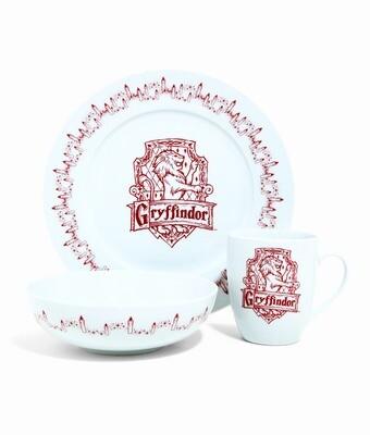 Gryffindor House Crest Harry Potter Dinnerware 3-Piece Set