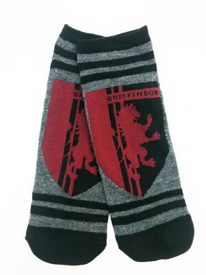 Gryffindor House Crest Lion Shield Harry Potter No-Show Ankle Socks