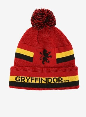 Gryffindor Harry Potter Striped Pom Beanie
