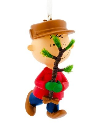 Charlie Brown Peanuts Hallmark Christmas Tree Holiday Ornament