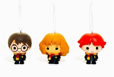 Harry, Hermione, Ron Harry Potter Hallmark Christmas Tree Holiday Ornament 3-Pack