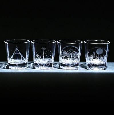 Harry Potter 9 oz. Etched Glass Tumbler Set