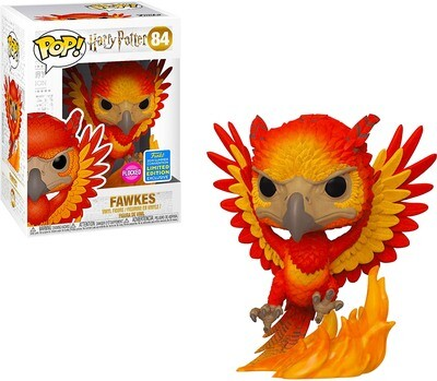 Fawkes (Flocked) Harry Potter Funko Pop 84 Summer Convention Exclusive Limited Edition
