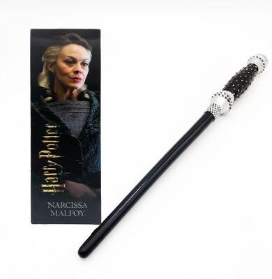 Narcissa Malfoy Harry Potter Wand and Bookmark