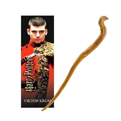 Viktor Krum Harry Potter Wand and Bookmark