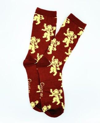 House Lannister Lion Sigil Game of Thrones Crew Socks