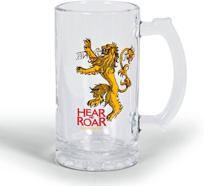 Hear Me Roar House Lannister Lion Sigil Game of Thrones Glass Stein