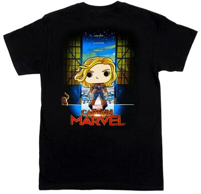 Higher Further Faster Captain Marvel Funko Pop Tees T-Shirt