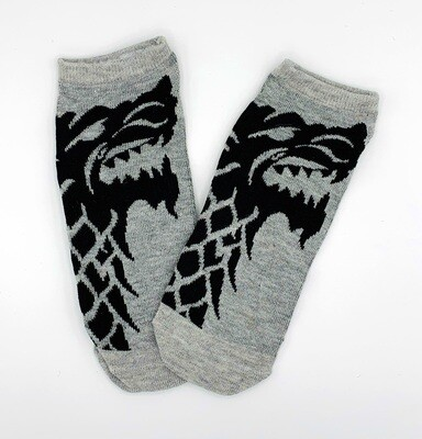 House Stark Direwolf Sigil Game of Thrones No-Show Ankle Socks