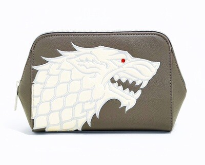 House Stark Direwolf Winter is Coming Game of Thrones Danielle Nicole Cosmetic Bag