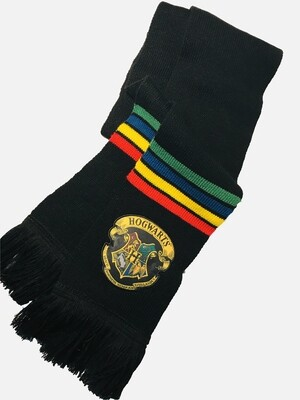 Hogwarts Crest Harry Potter Striped Scarf